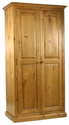 Bring the traditional touch of pine into your room with this wonderful pine wardrobe from our range. Pine Wardrobes for your bedroom in waxed, antique, rustic and painted finishes. Solid Pine Wardrobes in Double, Triple and 4 Doors. At lowest Prices! View All""