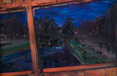 Jack Butler Yeats RHACrossing the Canal Bridge, from the Tram Top on panel, 23 x x Sold by the artist to Leo Smith, The Dawson Gallery, Dublin; Ex Collection Peter Ledbetter; Jack B, Irish Art, Grand Canal, Model Gallery, Red Paint, Global Art, Art Market, Night Time, View Image
