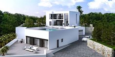 Villa Rachelle; a modern villaunder construction with beautiful panoramic sea view in Benissa Costa. -