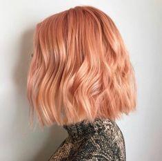 Pastel Hair, Pink Hair, Pastel Orange Hair, Strawberry Blonde Hair, Brown Blonde Hair, Dye My Hair, Grunge Hair, Hair Looks, Pretty Hairstyles