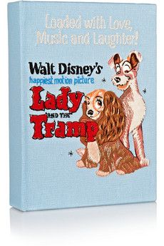 Olympia Le-Tan Lady and the Tramp embroidered cotton-canvas clutch | NET-A-PORTER