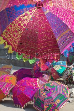 India - Rainbow Umbrellas
