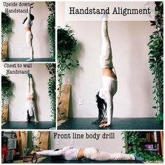 """Liz Lowenstein (Liz Kong) on Instagram: """"✨Handstand Alignment✨ . . . So I asked what y'all wanted to see more of in my stories yesterday, and the majority said handstands & yoga…"""" Yoga Handstand, Handstands, Yoga Inspiration, Fitness Inspiration, Yoga Fitness, Workout Fitness, Yoga Props, Body Challenge, New Shape"""