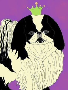 Original drawing for you to print Japanese Chin by ladybumblebee, $5.00
