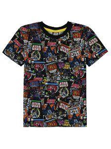 Star Wars Comic Book Print T-shirt Star Wars Comic Books, Star Wars Comics, Ibiza 2016, Comic Book Printing, Kids Tops, Men Casual, Asda, Boys, T Shirt