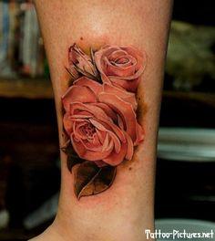 antique rose tattoo | rose tattoo - love this antique coloring | Tattoos I find interesting