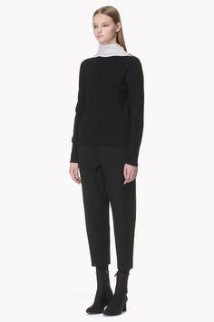 Half elastic baggy crop pants