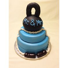 CrossFit wedding cake http://instagram.com/wellkneadedbakery