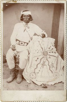 Apache Shaman with medicine skin Arizona c. 1890
