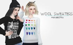 My Sims 4 Blog: Wool Sweaters with 10 Swatches for Females by Makabrotka