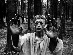 Andrey Rublyov /Andrei Rublev  (Andrei Tarkovsky, 1966) Andrei Rublev, Film Recommendations, Film World, Ingmar Bergman, Movie Shots, Love Movie, Golden Age Of Hollywood, Dark Night, Film Stills
