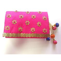 Ethnic Ladies Girls Indian Handmade Pink Wedding Clutch Wallet Purse Sale…