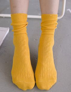 Women Yellow  Cute  Socks