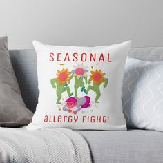 Promote | Redbubble Seasonal Allergies, Throw Pillows, Seasons, Toss Pillows, Cushions, Seasons Of The Year, Decorative Pillows, Decor Pillows, Scatter Cushions
