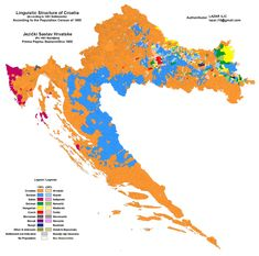 Linguistic/Ethnic Structure of Croatia according to data from the 1900 population census