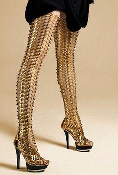 ˚Gold Spike Leggings by Itaysha Jordan