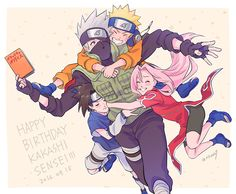 I would like to thank everyone who saved a Naruto pin in the last couple of days and would like to say I support you! Kakashi Hatake, Naruto And Sasuke, Naruto Team 7, Sakura And Sasuke, Naruto Art, Naruto Shippuden Anime, Shikamaru, Naruto Images, Naruto Pictures