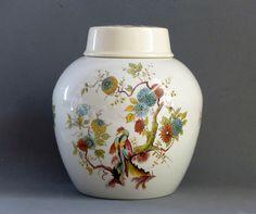 Royal Cauldron Tea Caddy. Twinings Tea Caddy. Porcelain Ginger Jar. Vintage Ginger Jar.  CHRISTMAS GIFT. English. Vintage. by JadisInTimesPast on Etsy