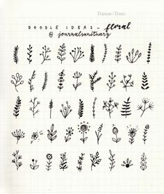 journalsanctuary: Doodle ideas 2 - floralI've been drawing... | Bullet journal inspiration | Bloglovin'