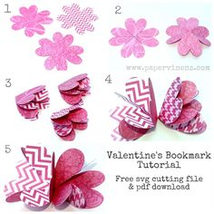PaperVine: Valentine Bookmark Tutorial and FREE Template