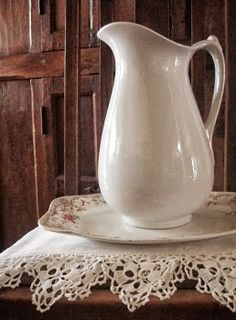 . . . Cabin & Cottage : A New Transferware Platter & A Giant Basket