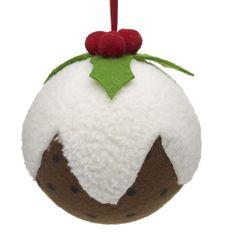 Wilko Christmas Pudding Hanging Christmas Decoration