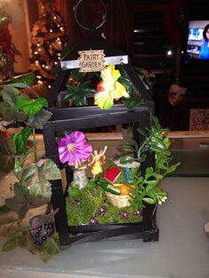 Fairy garden in a lantern: all supplies from Crafts 2000