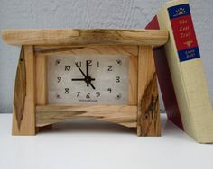 Wormy Maple Mantel Clock Wood Clock Bungalow Clock by TanteandOom