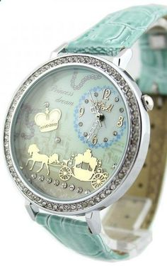 Princess dream.. baby blue horse drawn carriage watch