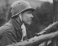 The US soldier was wounded by a bullet that went all through his helmet.