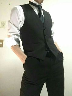 classy and sexy . Boy Outfits, Cute Outfits, Fashion Outfits, Pose Reference Photo, Korean Fashion, Mens Fashion, Gothic Fashion, Daddy Aesthetic, Suit Vest