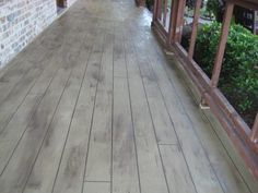 This is NOT a real wood deck. It is a polymer modified cement called THIN-FINISH™ applied to an existing concrete.