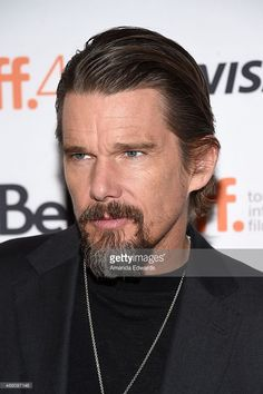 Actor Ethan Hawke attends the 'Born to Be Blue' premiere during the 2015 Toronto International Film Festival at the Winter Garden Theatre on September 13, 2015 in Toronto, Canada.