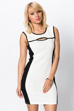Cut-Out Front Panel Bodycon Dress