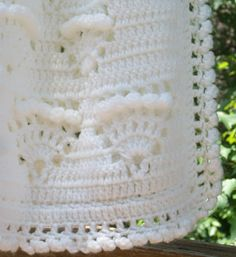 Antique White Baby Blanket Baptism Shawl by sweetpeacollections