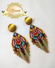 Seed Bead Jewelry, Seed Bead Earrings, Fringe Earrings, Beaded Earrings, Seed Beads, Beaded Jewelry, Handmade Jewelry, Beaded Bracelets, African Earrings