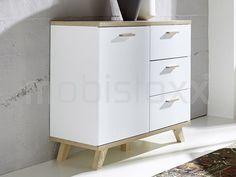 Dressoir COSMOS 1 deur en 3 lades wit/sanremo - Dressoir - Woonkamer | Mobistoxx