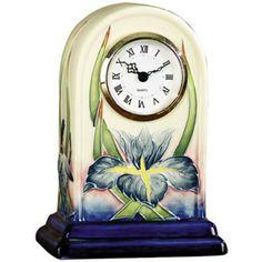 Dale Tiffany Iris Hand-Painted Porcelain Clock - #X5550   LampsPlus.com