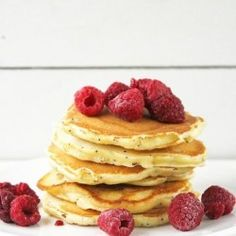 Pancakes with Raspberry Sauce