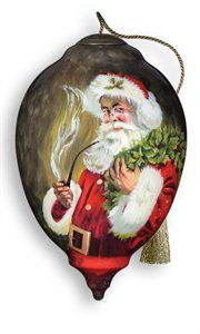 "Ne'Qwa ""Christmas 2012"" Hand-Painted Mouth-Blown Glass Christmas Ornament"