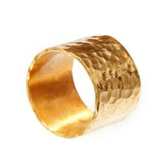 Looking for Wide Hammered solid 24 K Yellow Hammered Gold Band (this one is the style i like but it's plated).