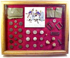 Display of 1812 War Relics British Uniforms, War Of 1812, January 11, Detroit, Battle, Ships, Brass, America, Plates