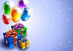 Birthday Background with Gifts