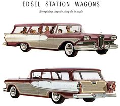 1958 Edsel Station Wagons probably one of the oddest cars ever made.