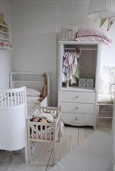 inside of armoire...nursery
