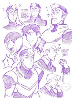 shiro by catneylang Form Voltron, Voltron Ships, Voltron Klance, Voltron Memes, Voltron Fanart, Takashi Shirogane, Shiro Voltron, Face Expressions, Cute Gay