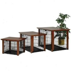 Furniture Style Indoor Dog Cage | Midwest Classic Collection Pet Crate Talbe Top Furniture