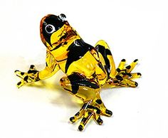 Lampwork COLLECTIBLE MINIATURE HAND BLOWN Art GLASS Sniper Frog, Yellow FIGURINE * Check out the image by visiting the link. (This is an affiliate link) #BatmanBirthdayParty