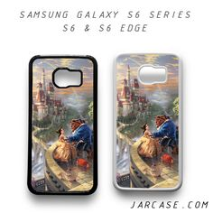 romantic beauty and the beast in their castle Phone case for samsung galaxy S6 & S6 EDGE