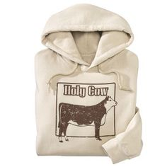 It's a hoodie with a Hereford that actually looks like something I'd be proud to raise!